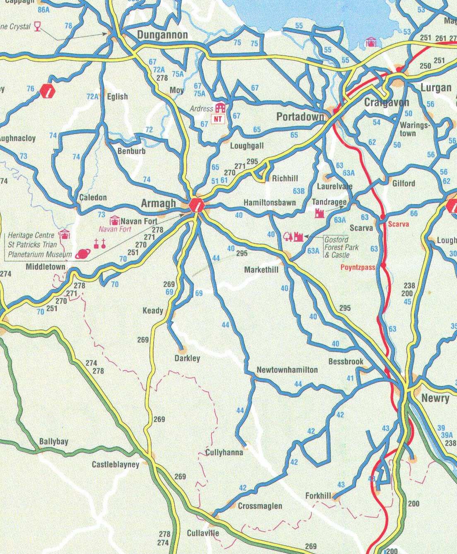County Armagh Ireland Map.Genuki County Armagh